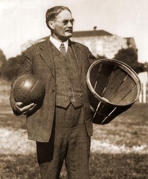 naismith james dr basket ball basketball peach del nba invented 1891 baskets guy creador invent inventor rules ever game baseball